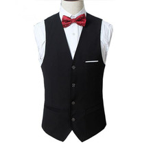 New style design men waistcoat custom made wedding groom tuxedos vest high quality groomsman suits vest