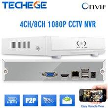 El más nuevo mini nvr 8ch/4ch Onvif HD 4 canal 8 canales NVR 1080 P seguridad CCTV NVR HDMI P2P CCTV cámara IP CCTV cámara de red SISTEMA