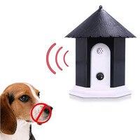 Dog Pet Ultrasonic Anti Bark Barking Dog Repeller Ao Ar Livre Trainer Controle Parar Barking Formação Equiment Suprimentos para Animais de Estimação Cães