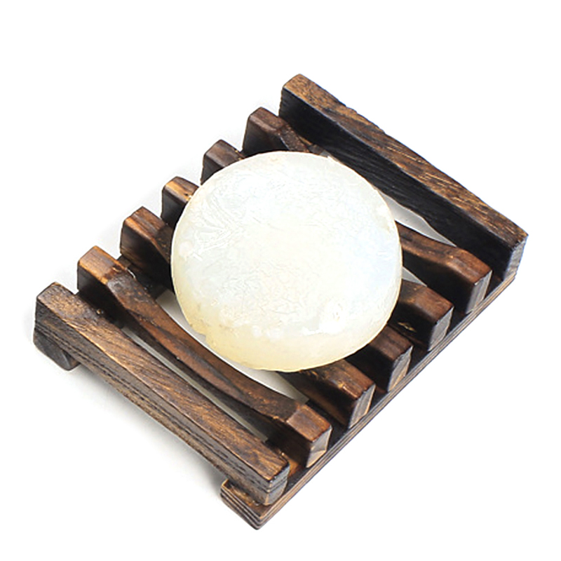 Natural Wood Soap Dish Holder Bath Shower Plate Box Home Wash Bathroom Bathroom hardware Soap dish mymei natural wood tray holder bath shower plate bathroom diy wooden soap dish storage