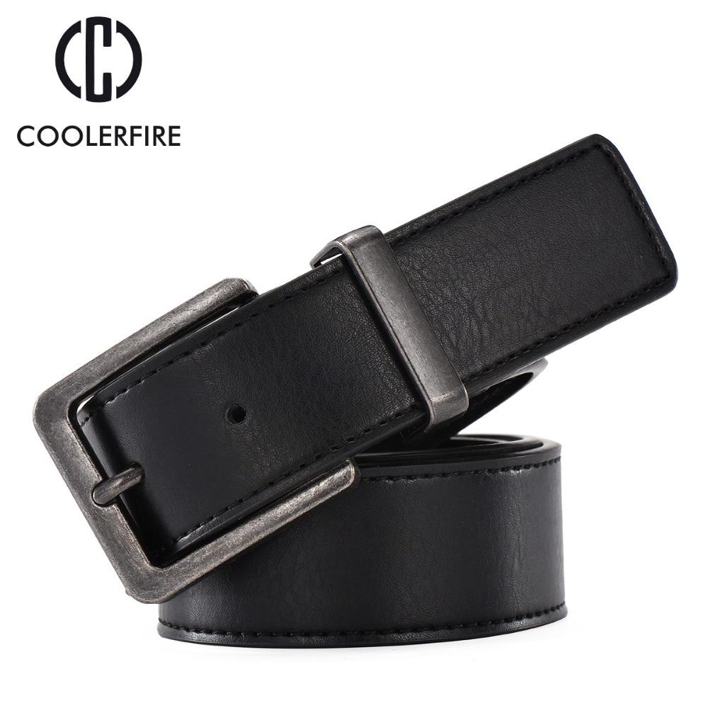 100% Cowhide Genuine Leather Belts For Men Cowboy Luxury Strap Brand Male Vintage Wide Jeans Designer Belt Men High Quality