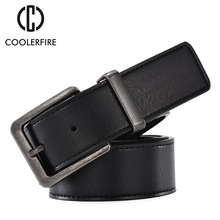 Fashion Design 2017 Casual Business High Quality Pin Buckle Men Belt  Luxury Real Leather Belts Male Strap Black SM001 high quality business men belt automatic buckle fashion man real leather belt popular casual male luxury black belts