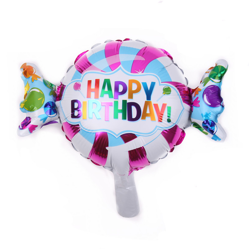 TSZWJ B-078 Free Shipping New 1pcs candy film Foil Balloons Wedding Banquet baby birthday party decoration balloon