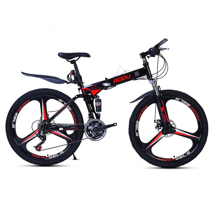 AOXIN pouces vtt Vibrations amortissement pliage haute en acier au carbone vélos de montagne sport hommes femmes bicicleta