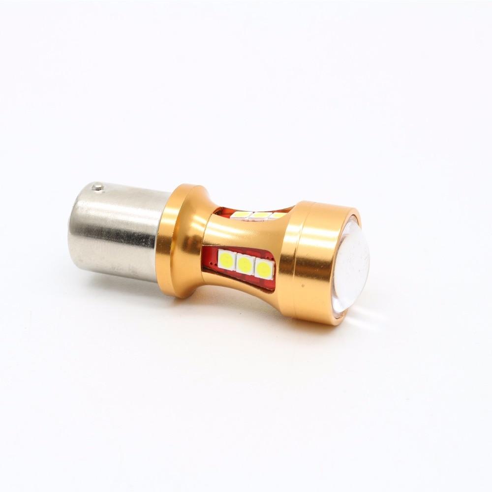 2X daya tinggi S25 1156 BA15S 1200LM P21W Canbus tidak ada kesalahan - Lampu mobil - Foto 2