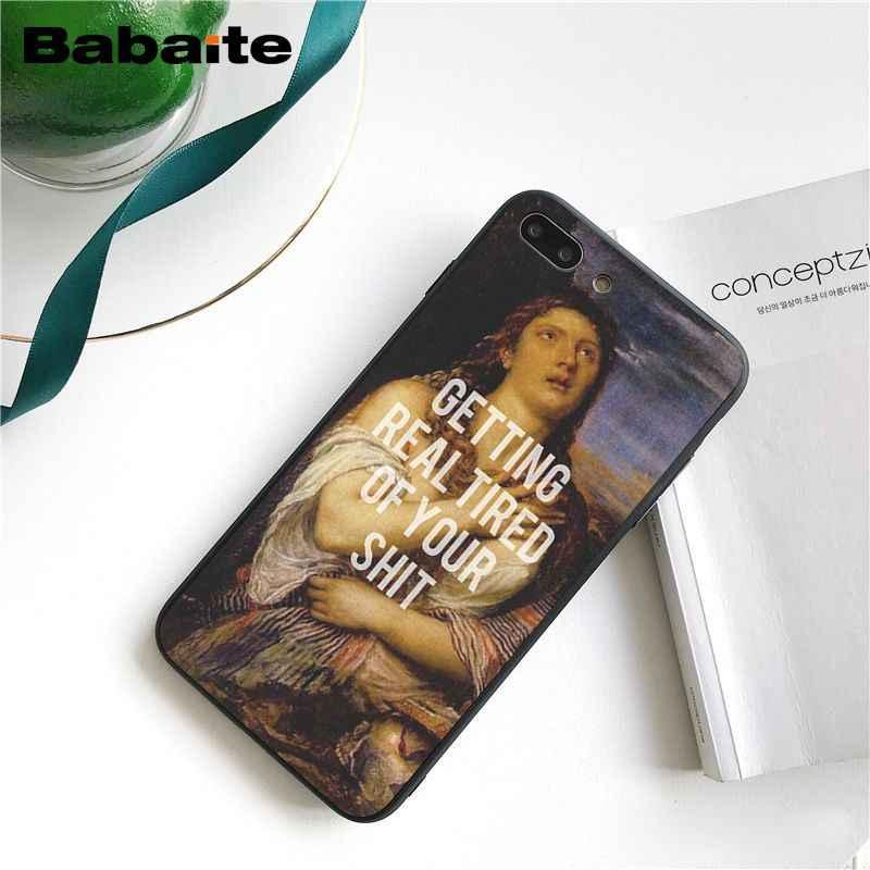 Babaite clássico arte memes citações pintura caixa do telefone para o iphone 11 pro 11pro max 5 5sx 6 7 mais 8 8 mais x xs max xr