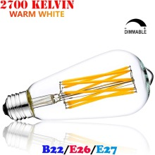Vintage ST64 LED Filament Edison Light Bulb Teardrop E26/E27 Bombilla De Filamento LED 4W 6W 8W 220V 120V Dimmable Ampoule LED