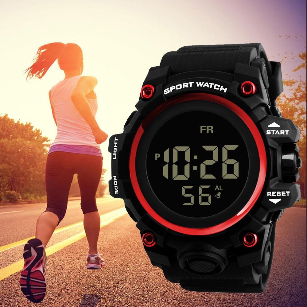 Luxus Männer Frauen Sport Uhren Led Digital Täglichen Wasserdichte Silikon Handgelenk Uhr Lauf Wandern Military Armee Elektronische Uhr Mangelware Uhren