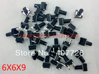 30pcs 6X6X9 mm 4pin copper DIP Tactile Push Button Switch Momentary Push Button Power button Micro switch