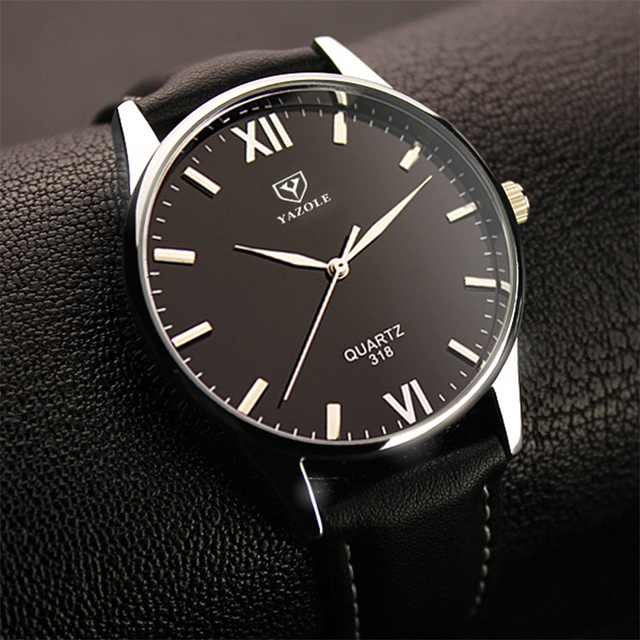 2018 Yazole Watch Simple Hook Needle Business Watch Roman Scale Male Soft Leathe