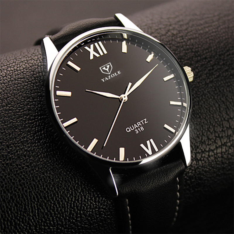 2019 Yazole Watch Simple Hook Needle Business Watch Roman Scale Male Soft Leather Watch Men's Quartz Watches Relogio Masculino