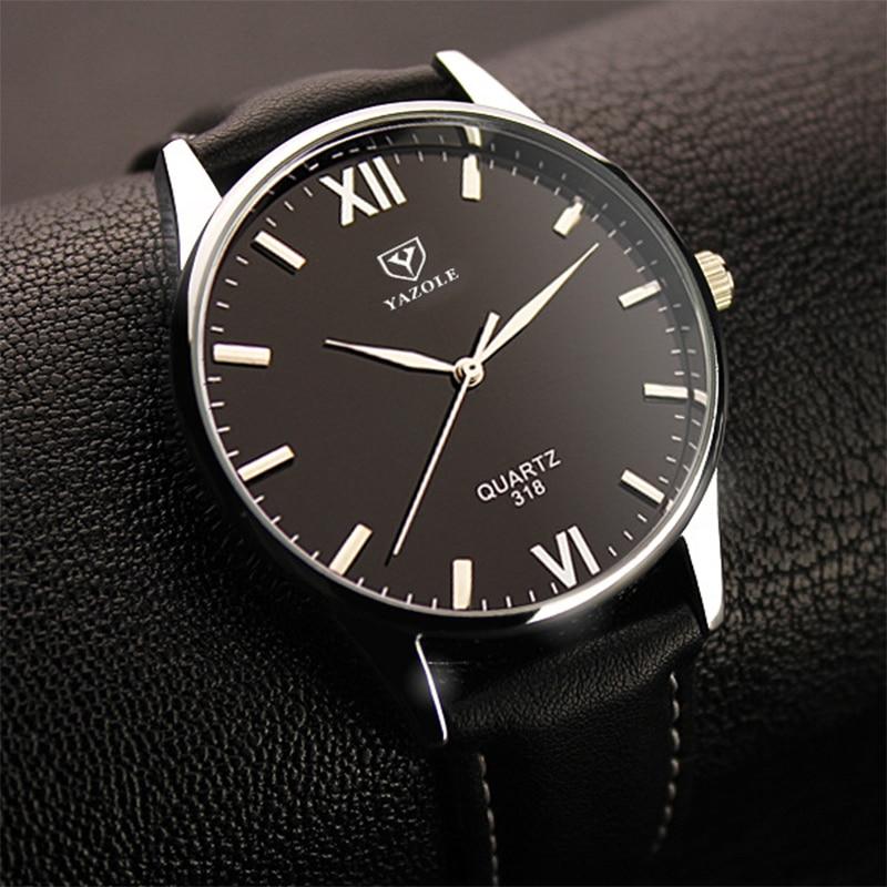 2019 Yazole Watch Simple Hook Needle Business Watch Roman Scale Male Soft Leather Watch Men's Quartz Watches Relogio Masculino