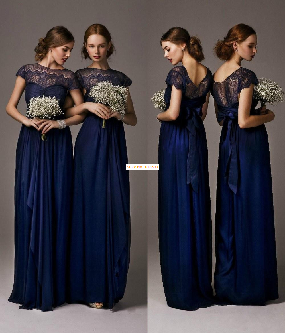 New Arrival Sheer Chiffon 2018 Crew Ruffles Natural Waist abendkleider Long Length Formal party prom gown   Bridesmaid     Dresses