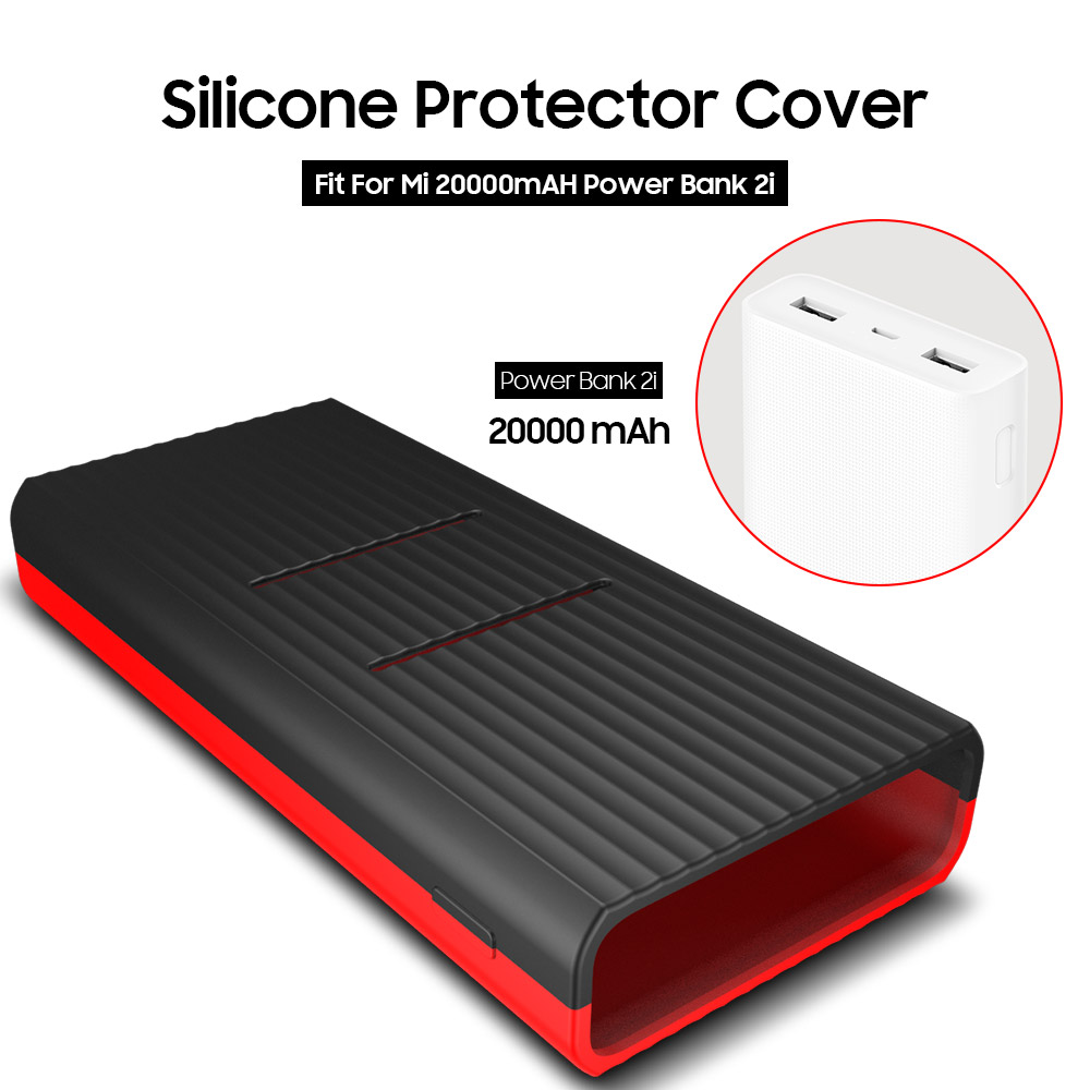 AWINNER Silicone Protector Case Cover Skin Shell for <font><b>Xiaomi</b></font> Xiao <font><b>Mi</b></font> <font><b>Xiaomi</b></font> <font><b>20000mAh</b></font> <font><b>Power</b></font> <font><b>Bank</b></font> <font><b>2C</b></font> PLM06ZM Powerbank Accessories image