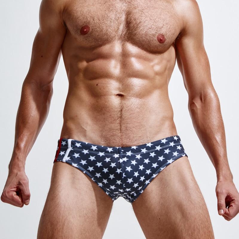 Marca Superbody estrella de cinco puntas Camuflaje traje de baño Traje de baño Para hombre Troncos de natación Verano de los hombres de natación Breve Patchwork
