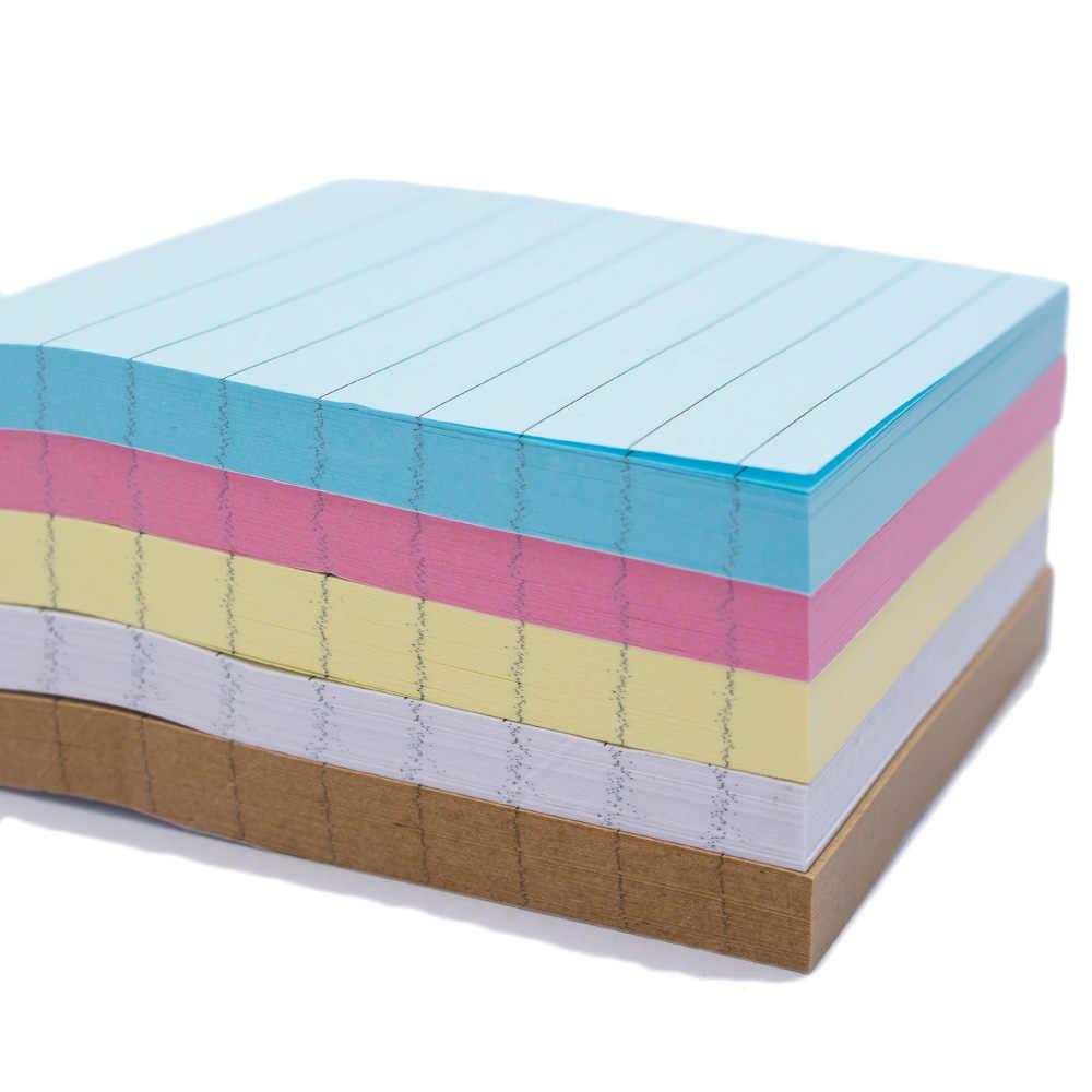 80 גיליונות מוצק צבע מדבקות פנקס דביק דביק הודעה שים לב פנקס בית ספר משרד מכתבים ספקי