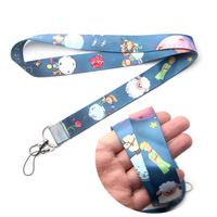DMLSKY 24pcs/lot Little Fox and Prince Lanyard Keychain Lanyards for keys Badge Phone Rope Neck Straps Accessories Gifts M3055