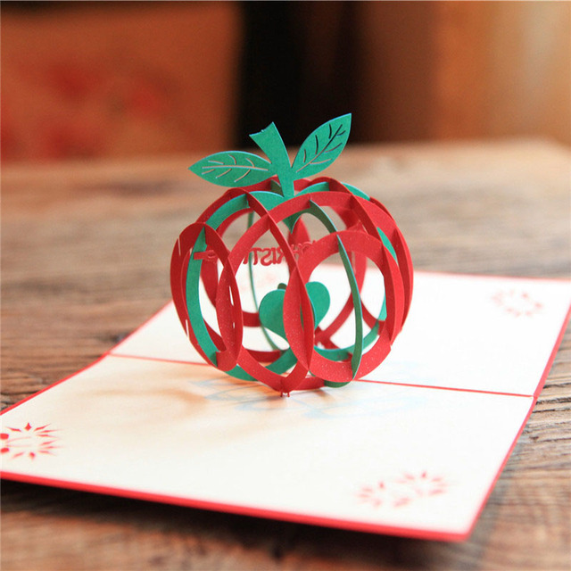 3d laser cut handmade christmas peace apple paper invitation 3d laser cut handmade christmas peace apple paper invitation greeting cards postcard christmas festival blessing creative m4hsunfo