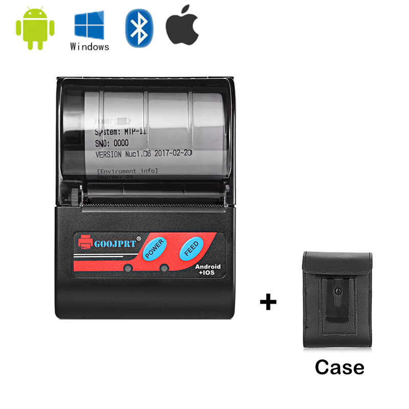 2 Inch Bluetooth Thermal Printer MTP-II Pocket Printer For Android Windows