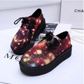 Hot!  2016 Women Casual Flats Galaxy HARAJUKU vintage Punk Gothic creepers Platform Shoes Flats #615