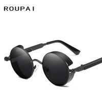 Round Steampunk Classic Brand Designer Mirror Sunglasses Fashion Steam Punk Hip Hop UV400 Vintage Sun Glasses