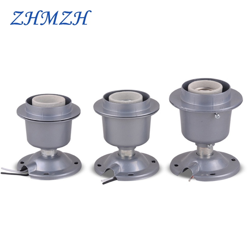 E27 Lamp Base Aluminum Die-casting Mining Lamp Cap E40 Aluminum-cover Lamp Holder Energy-saving Lamps Thickened Socket