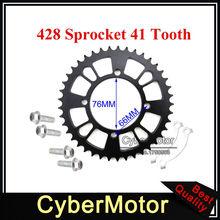 Задняя цепная Звездочка 428 76 мм 41 зуб для китайского питбайк мотоцикла YCF Thumpstar XR CRF 50 KLX110 SSR Pitmotards