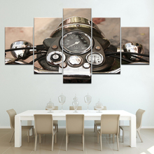 Motorcycle Canvas Wall Art Painting 5 Panels HD Print modern Modular Poster for Living Room Home Decor