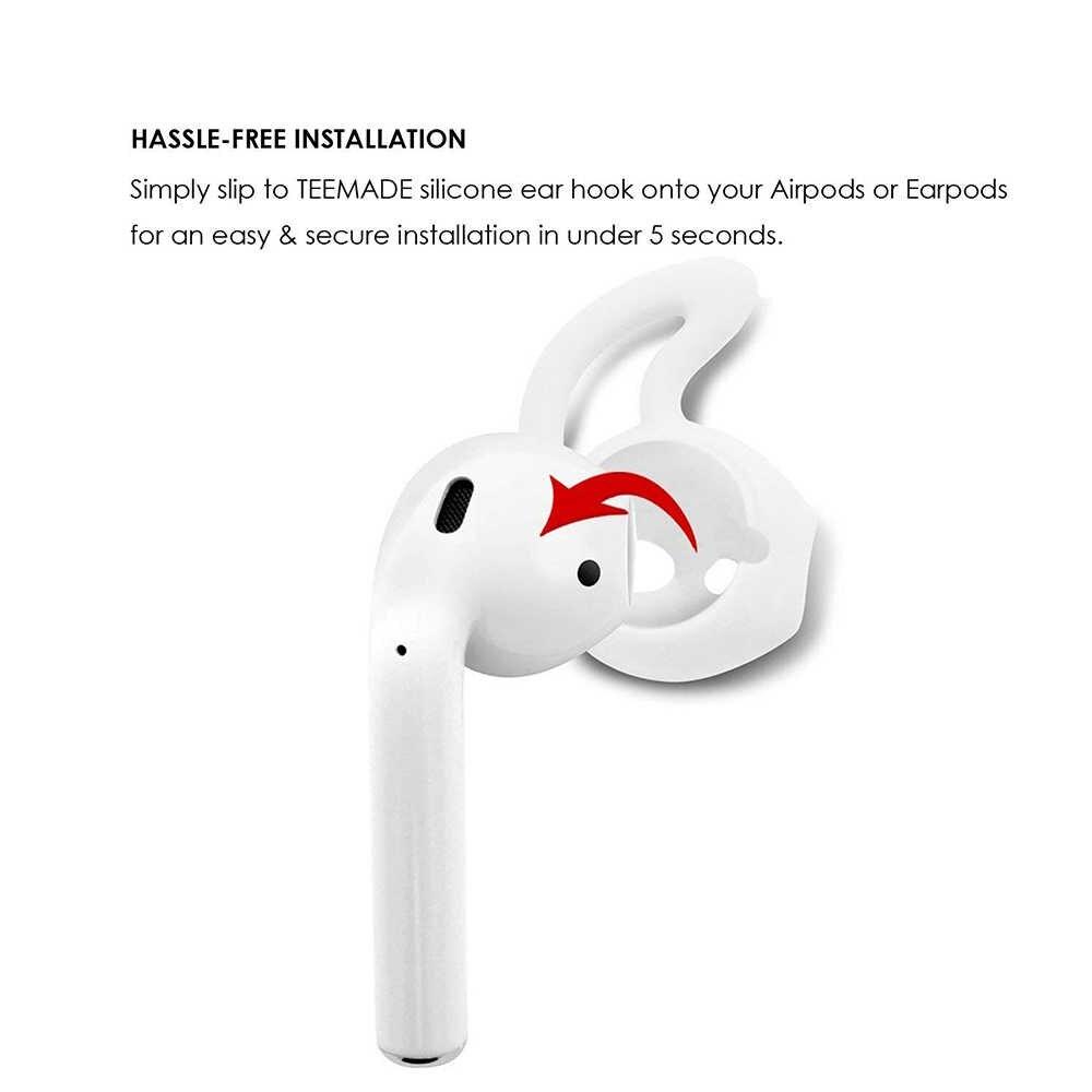 Per airpods accessori aria baccelli earpods caso Ganci per le Orecchie auricolari Cinghia per Apple auricolari delle cuffie Della Copertura Del Silicone airpods