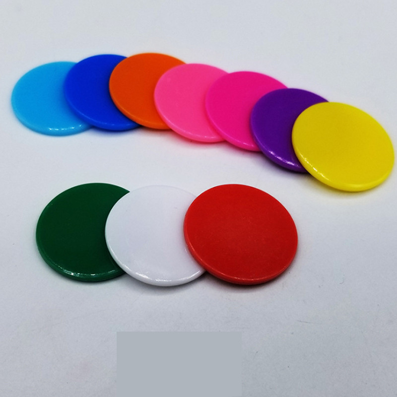 50Pcs High Quality 25MM Poker Chips Plastic Bingo Marker Candy Color Coins Bingo Game Accessories Fun Family Club Board Games