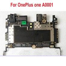 Placa mãe para oneplus 1 one plus, placa mãe original usada de teste de desbloqueio, chipset de taxa da placa principal a0001