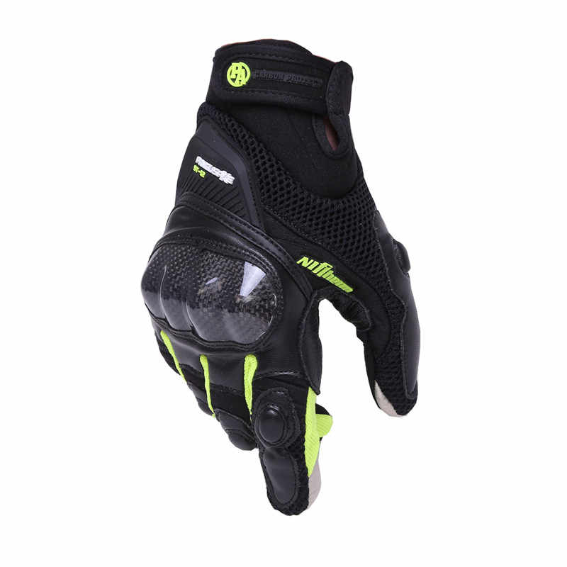 炭素繊維のオートバイの手袋レザータッチスクリーン通気性保護手袋 Guantes モト Luvas 高山モトクロス星 Gants