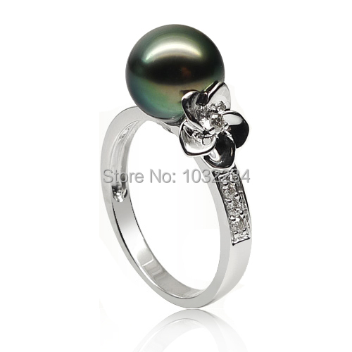 buy wholesale tahitian pearl engagement ring from