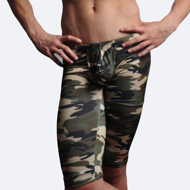 camouflage mens cargo pants fashion sexy camouflage dress camouflage Male Middle Pants Elastic Waist Design  M02-2 16