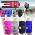 Outdoor Sports Four Spring Support EVA Breathable Knee Pads Riding Climbing Antiskid Adjustable Knee Brace Protector Belt Health