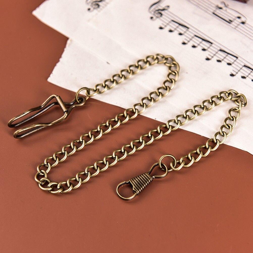 36cm Bronze Vintage Style Retail Alloy Pocket Watch Holder Necklace Chain For Men Women Collares