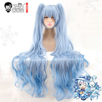 HSIU Snow Miku Cosplay Wig VOCALOID Costume Play Wigs Halloween Costumes Hair Free Shipping NEW High