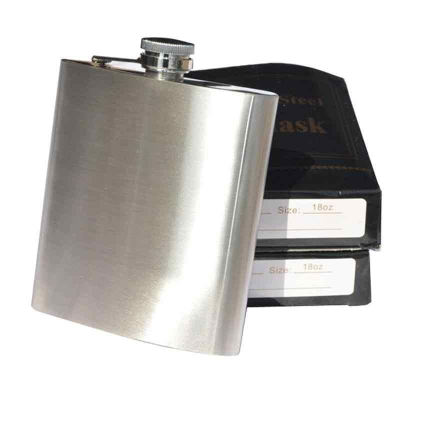 新 6 サイズステンレス鋼ポケットヒップフラスコアルコールウイスキー酒スクリューキャップ + 漏斗 &