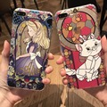 Новый Алиса и Мэри cat телефон случаях для iPhone 6 6 s 6 plus 6 s plus для iPhone 7 7 plus Анти-капля назад случаи для девочек дети