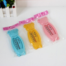 hot deal buy 1pcs quality security bath toy tub water sensor baby care useful floating lovely bear baby water thermometer float baby
