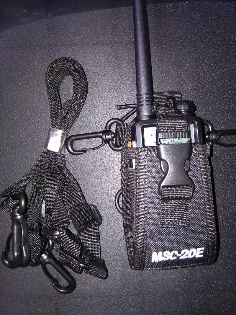 Image 3 - MSC 20E Walkie talkie bag&Nylon Radio Case Holster for handheld Baofeng UV 5R B5 walkie talkie radio holder bag-in Walkie Talkie from Cellphones & Telecommunications