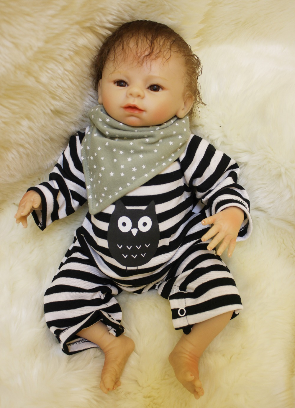 Reborn baby dolls for sale Soft Vinyl Silicone Lifelike Newborn Cosplay Brinquedo Boys Girls Early Education Reborn Babies Doll christmas gifts in europe and america early education full body silicone doll reborn babies brinquedo lifelike rb16 11h10