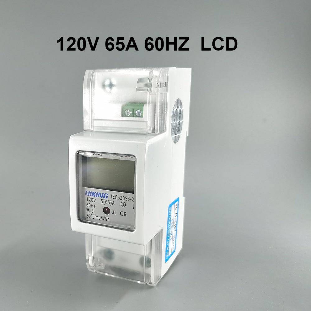 5(65)A 120V 60HZ DDS238-2 Single phase Din rail KWH Watt hour din-rail energy meter LCD цена