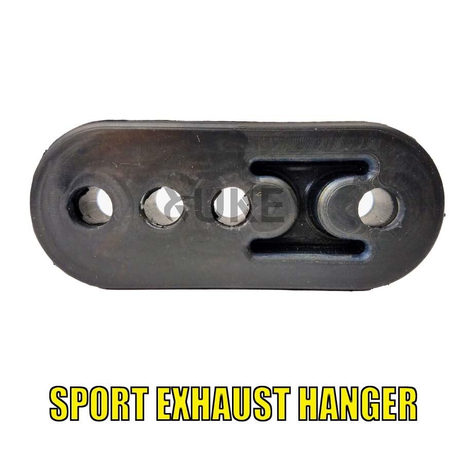Car Exhaust Hanger Rubber Exhaust Pipe Mount Brackets Muffler Insulator 4 Holes