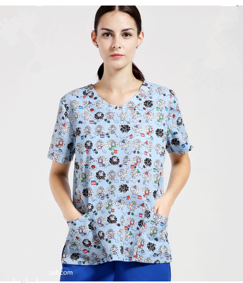 2016 Direct Selling 2017 New Medical Scrubs Women Printed ...