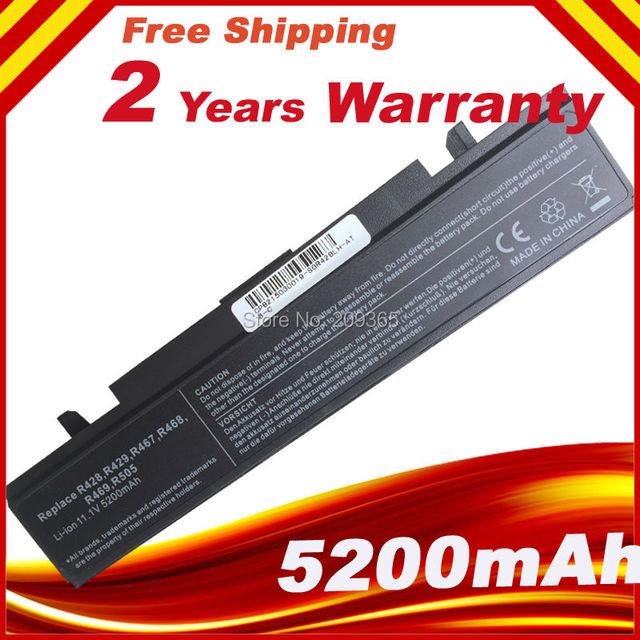 Nueva batería del ordenador portátil aa-pb9nc5b aa-pl9nc6w aa-pb9nc2b para samsung rv511 rv515 rv520 rv509 rf711 rv408 rv411 rv415 rv508