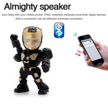 C-89 Iron Man LED Light Speakers Stereo Music Player Wireless Bluetooth Speaker Portable Mini Wireless Subwoofers TF FM USB Card