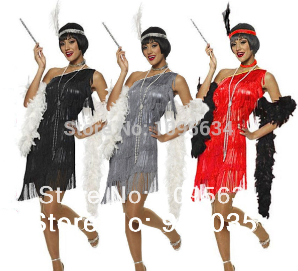 1920/'s Black Flapper Charleston Feather /& Heart Headband 20/'s Jazz Fancy Dress