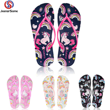 Unicorn Shoe Children Flip Flops Kids Beach Slippers Baby Barefoot Shoes Swim Water Girls Sea Summer 36-40