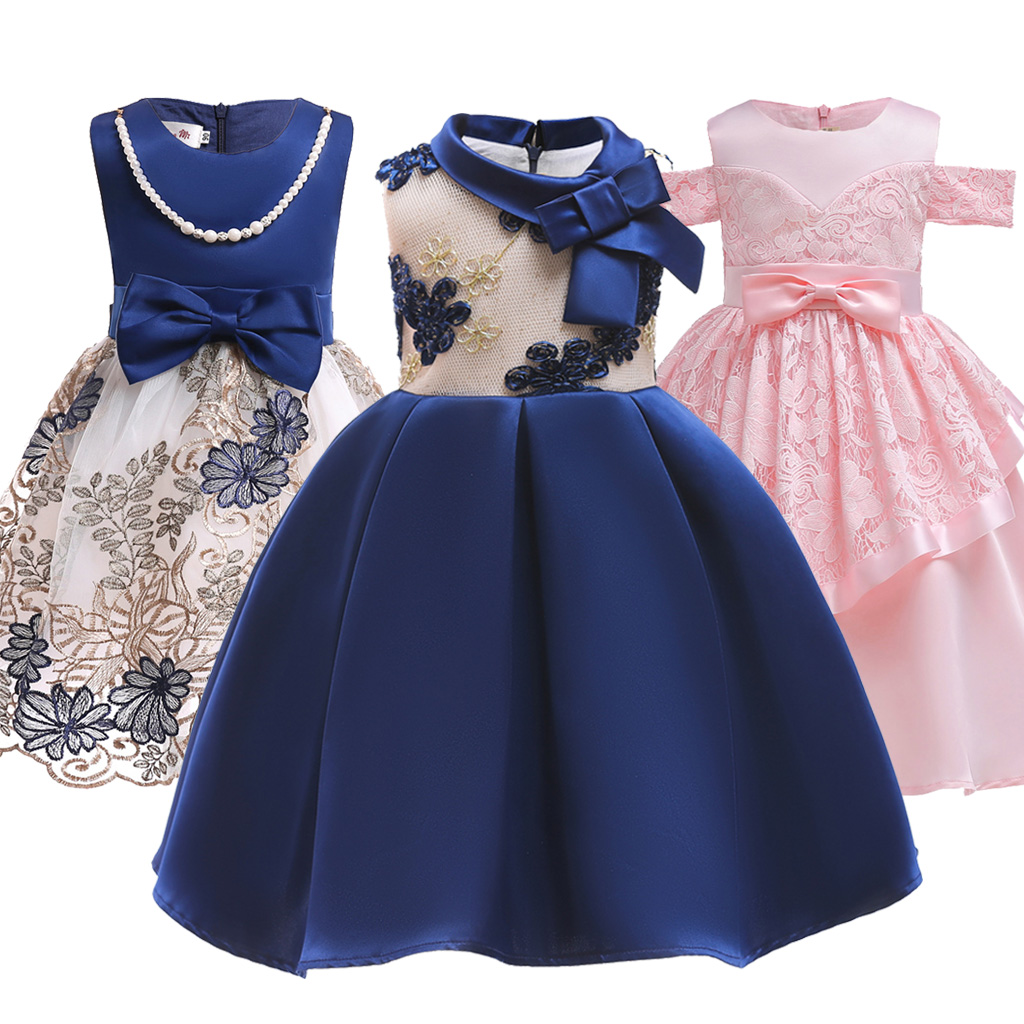 1bcdf972a2283 Kids Tutu Birthday Princess Party Dress for Girls Infant Wedding Lace  Children Bridesmaid Elegant Dress Evening for Girl Clothes